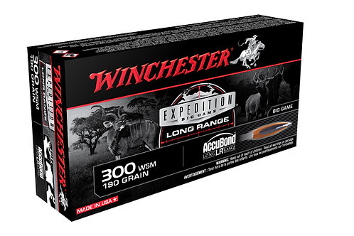 WINCHESTER EXPEDITION .300 WSM 190GR ACCUBOND LONG RANGE