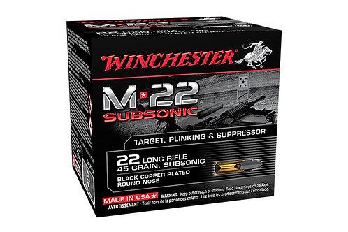 WINCHESTER CARTRIDGE 22LR M-22 SUBSONIC 40G LRN