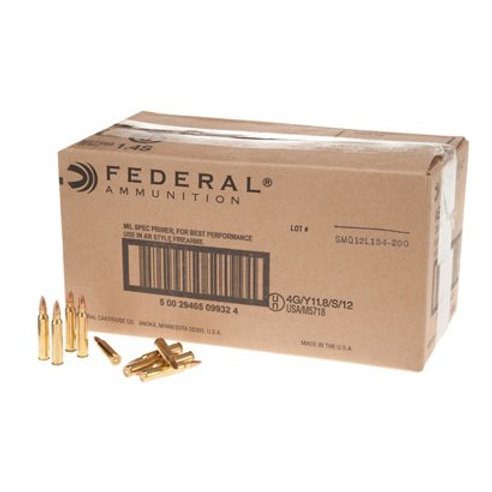 500 Round case of Federal American Eagle .223 55gr FMJ