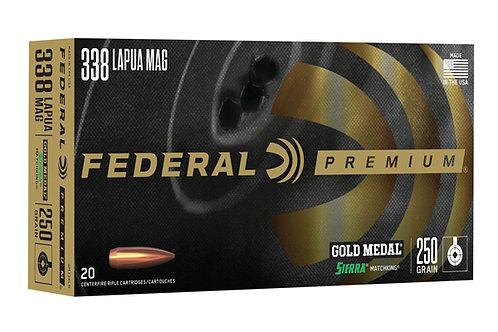 FEDERAL PREMIUM 338 LAPUA  250GR SMK BTHP