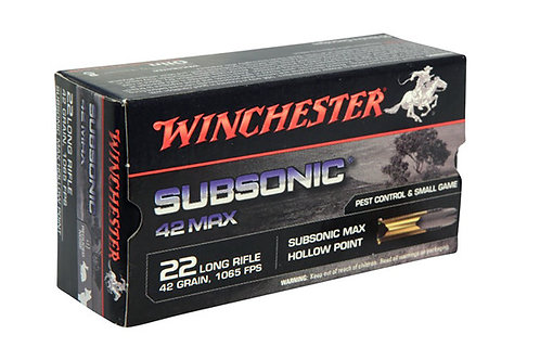 WINCHESTER CARTRIDGE 22LR 42GR SUBSONIC