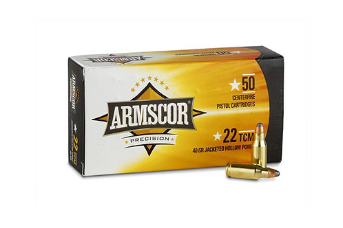 ARMSCOR CARTRIDGE 22TCM9R 39GR JHP