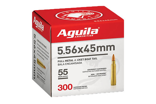 AGUILA 5.56 55GR FMJBT 300RD