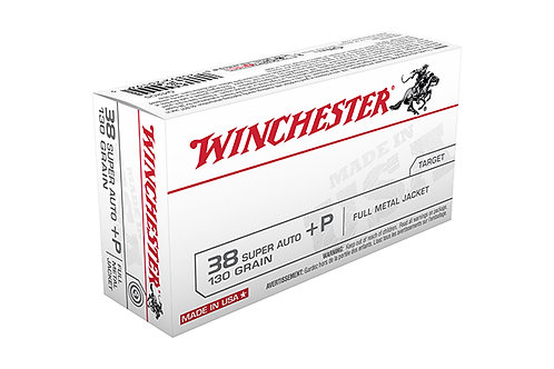 WINCHESTER CARTRIDGE .38 SUPER+P 130GR FMJ