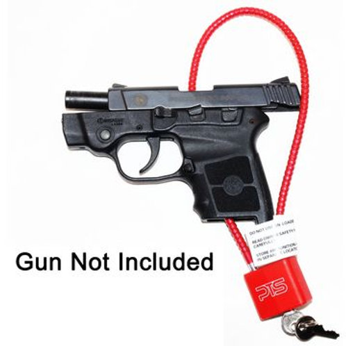 Cable style gun lock