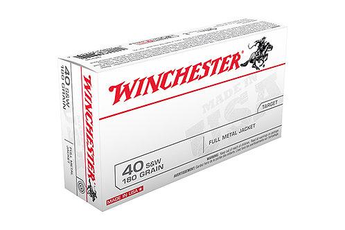 WINCHESTER CARTRIDGE 40SW 180GR FMJ