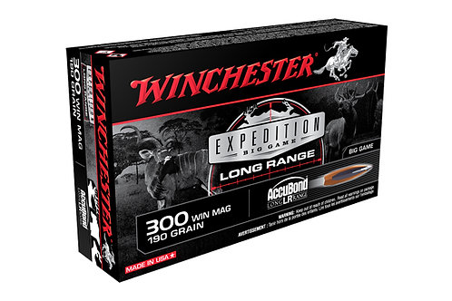 WINCHESTER EXPEDITION .300 WIN MAG 190GR ACCUBOND LONG RANGE