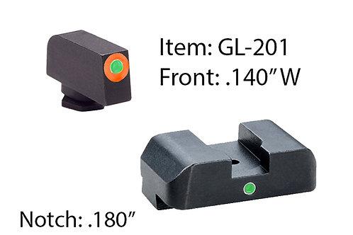 Ameriglo Glock Tritium I-Dot Sets Fits:17,19,22,23,24,26,27,33,34,35