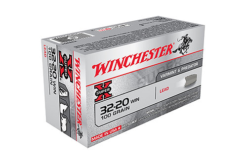 WINCHESTER CARTRIDGE 32-20 100GR LEAD