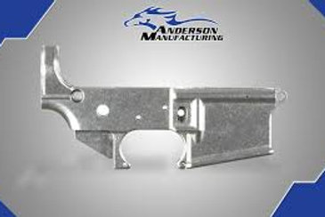 AM-15 STRIPPED OPEN TRIGGER LOWER IN THE WHITE