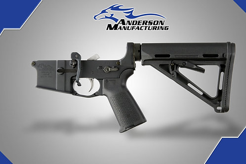 AM-15 COMPLETE LOWER, BLACK MAGPUL – OPEN, ENHANCED