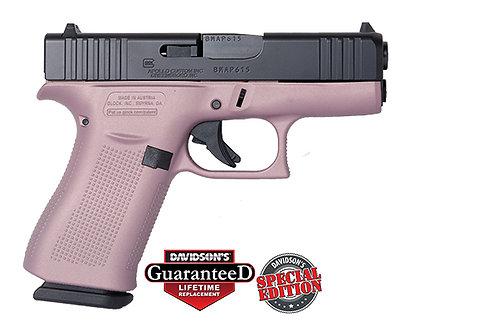 Apollo Custom Glock Model:43X Pink Champagne Elite Black