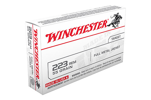 WINCHESTER CARTRIDGE 223 55GR FMJ