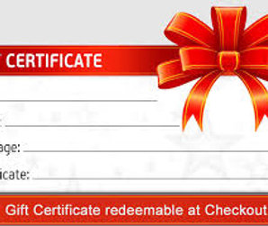 Gift Certificate / Layaway Payment
