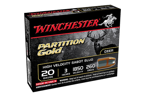 WINCHESTER SLUG SABOT 20G PARTITION GOLD 3IN