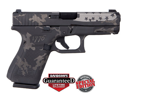 Apollo Custom|Glock Model:Gen 5 19 USA Black & Gray Camo 1776