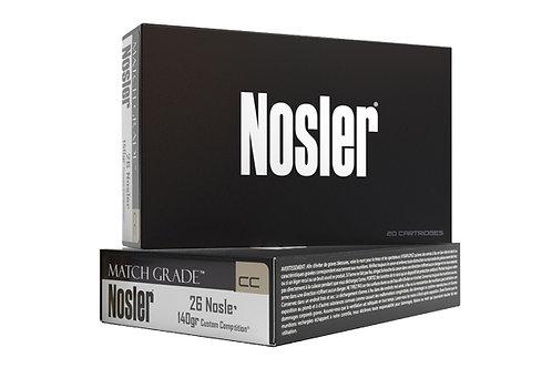 NOSLER MATCH GRADE AMMUNITION 26NOS 140GR CC HPBT