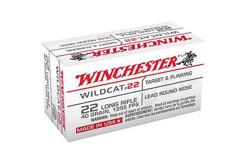 WINCHESTER CARTRIDGE 22LR WILDCAT 40GR LRN