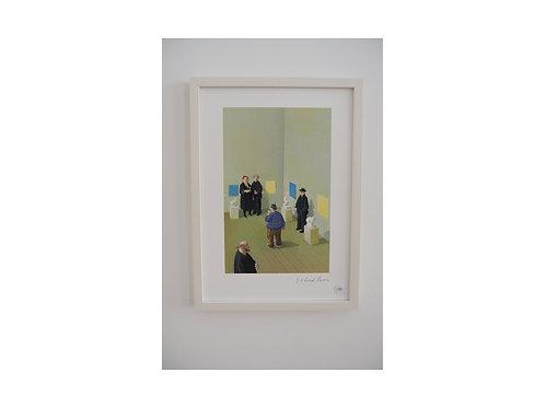 """Pigmentdruck: """"Vernissage"""" von Michael Sowa"""