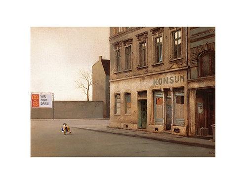 """Pigmentdruck: """"Straße frei"""" von Michael Sowa"""