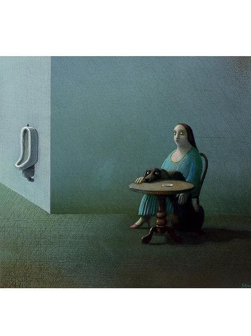"""Pigmentdruck: """"Rosi"""" von Michael Sowa"""