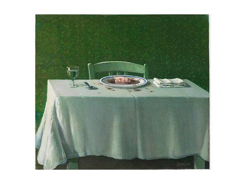 """Pigmentdruck: """"Suppenschwein 2"""" von Michael Sowa"""