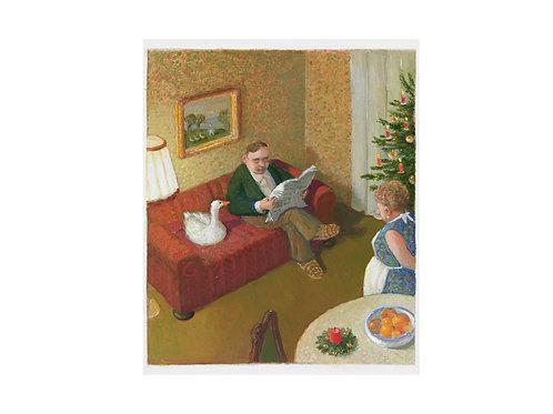 """Pigmentdruck: """"Weihnachtsgans"""" von Michael Sowa"""