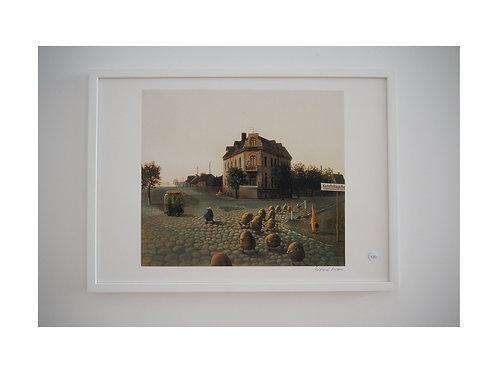 """Pigmentdruck: """"Kartoffellagerhaus"""" von Michael Sowa"""