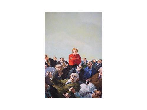 """Pigmentdruck: """"Merkel und so"""" von Michael Sowa"""