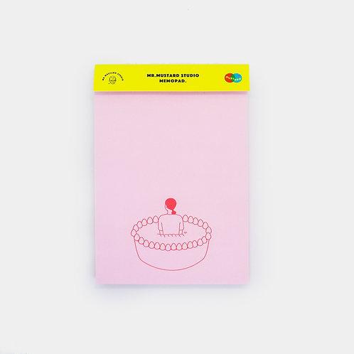 I Love Cake Memo Pad