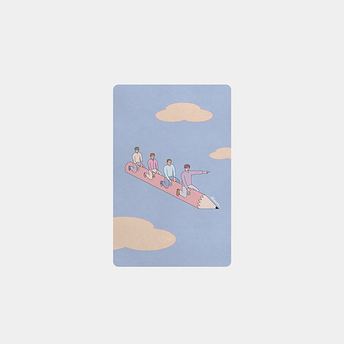 Let's Go Together Card Mirror