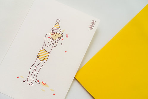 HAPPY CAKE Post Card set