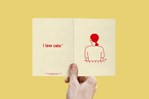I Love Cake Post Card