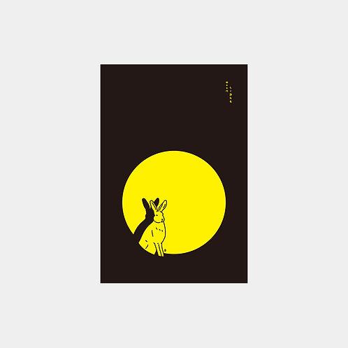 MoonLight Rabbit Post Card