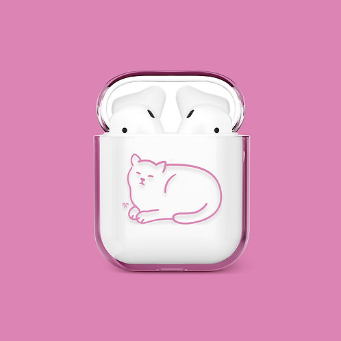 Happy Moments Cat Airpods Case (pink)