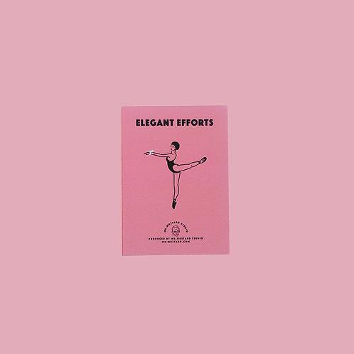 Elegant Efforts PostCard (pink)