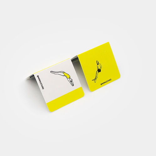 Water Level Bookmark - diving snorkelling