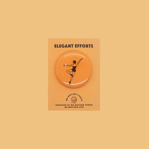 Elegant Efforts Pin Badge (orange)