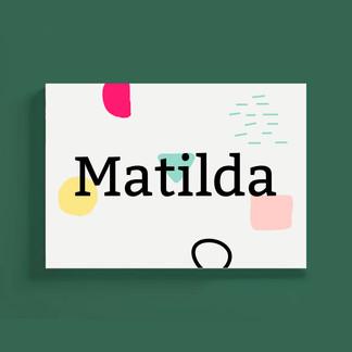 Geboortekaartje_MATILDA