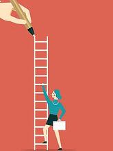 businesswoman-lead-to-climb-high-ladder-
