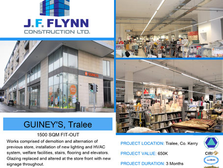 First up on our #tbthursday projects is Guiney's 1500sqm store in the heart of Tralee, Co. Kerry.