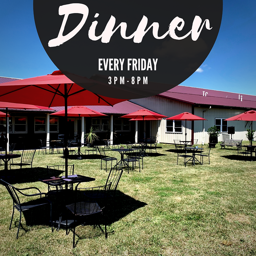 Join Us for Dinner on Fridays at Freedom Run Winery