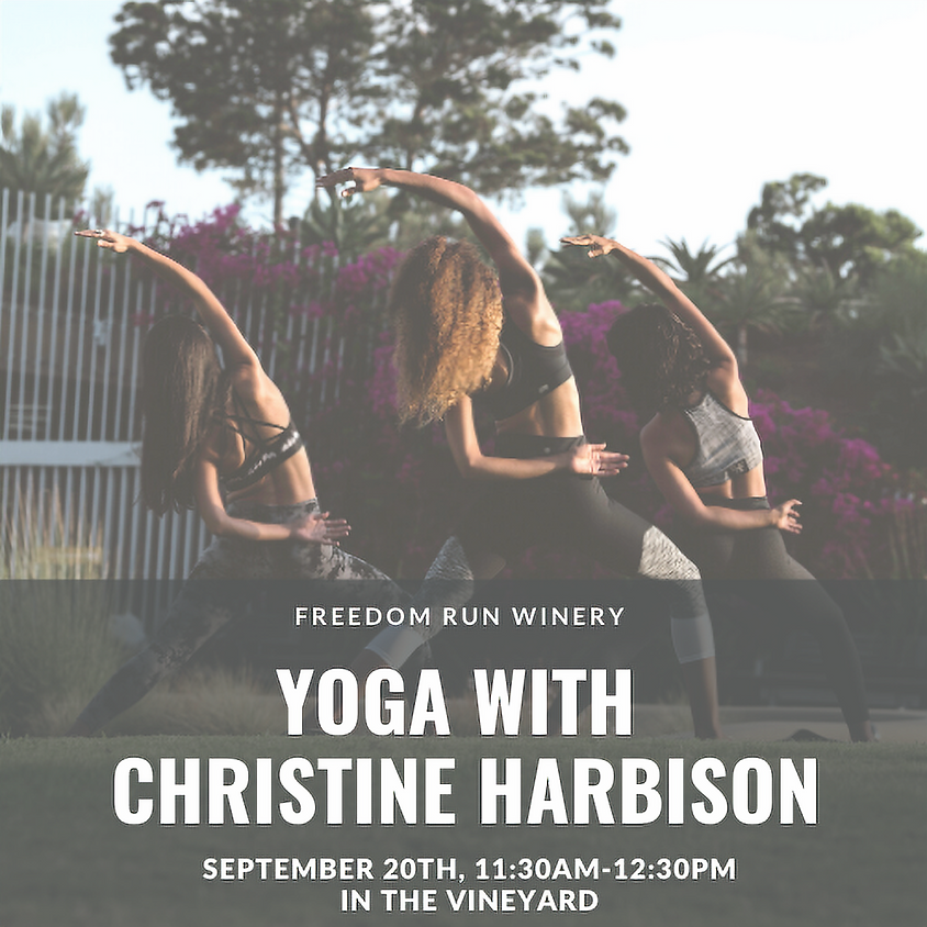 Yoga with Christine Harbison @ Freedom Run Winery