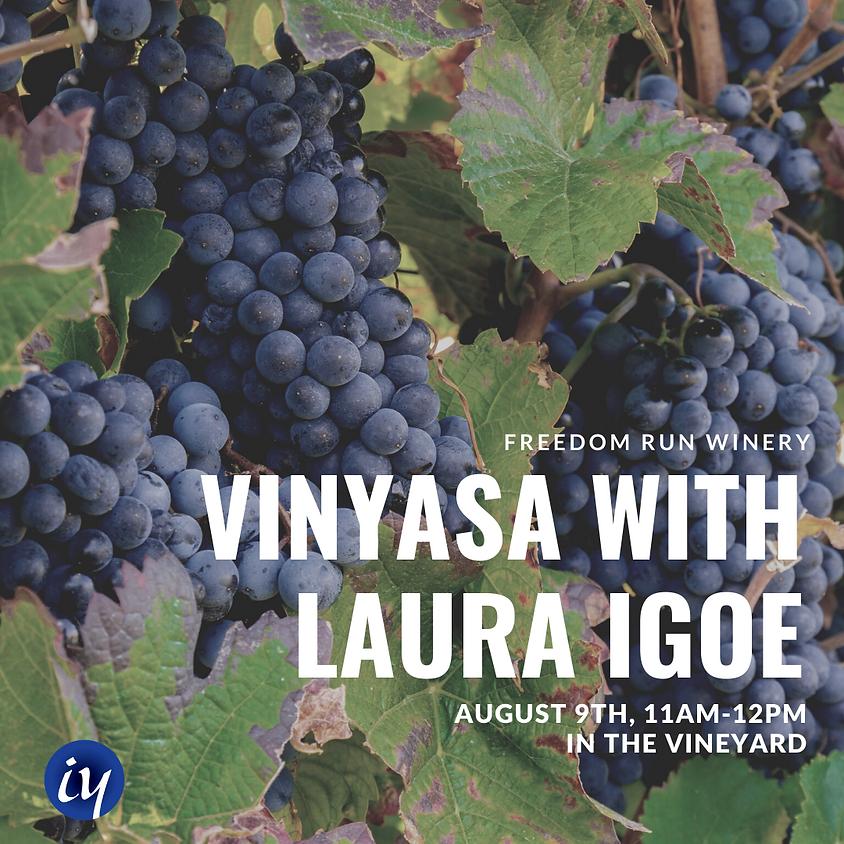 VINYASA YOGA WITH LAURA IGOE @ FREEDOM RUN WINERY