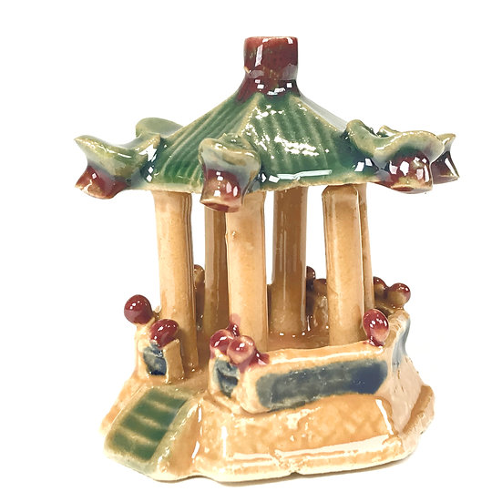 """FIGURINE """"Temple"""" 6,5 cm de hauteur  Terre cuite"""