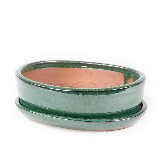 21 x 16 x 6 cm Verte Inclus soucoupe
