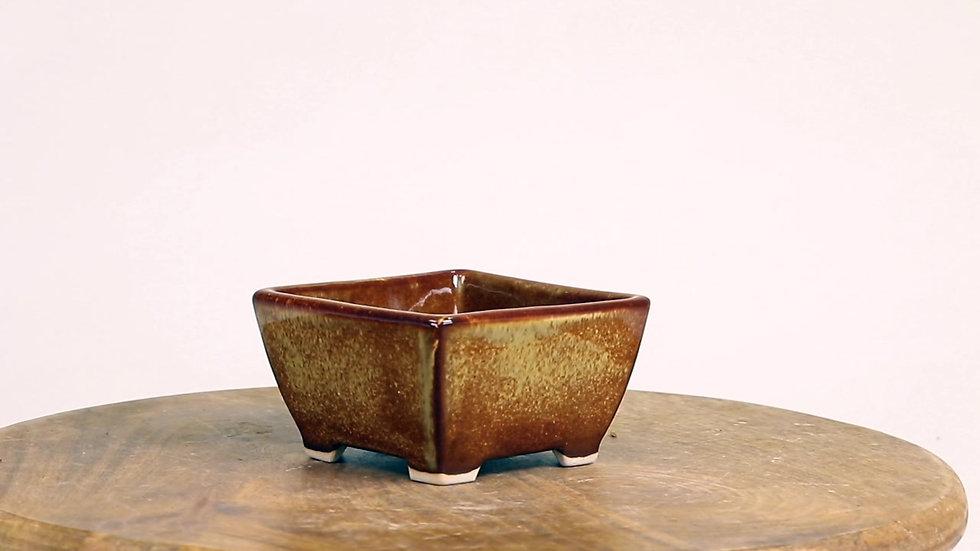 10 x 10 x 5 cm Céramique artisanale unique Marron Vernis