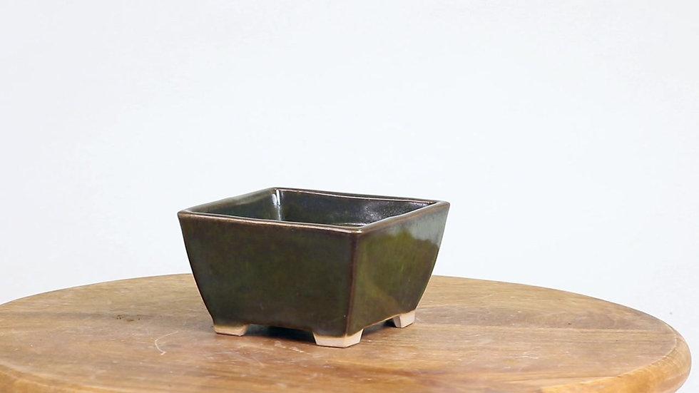 10 x 10 x 5 cm Céramique artisanale unique Verte foncée
