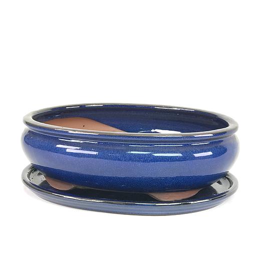28 x 22 x 8 cm bleu  inclus soucoupe  W15