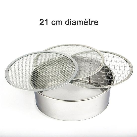 TAMIS INOX de 21 cm de diamètre + 3 Tamis - Japon